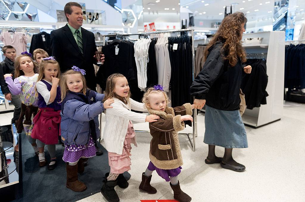 The Duggar family shopping
