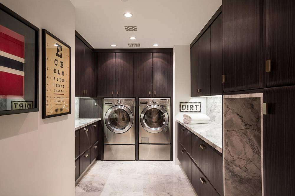 No Expense Was Spared For This Luxurious Laundry Room