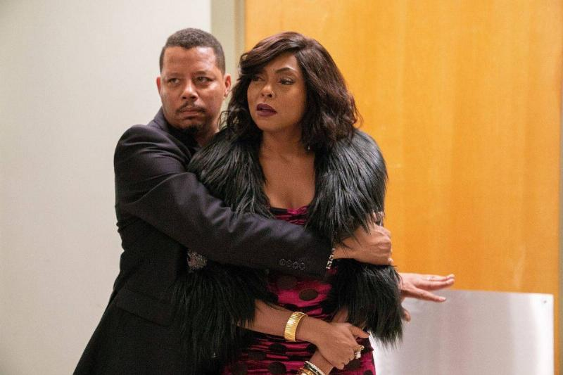 terrence howard hugging taraji p. henson in empire