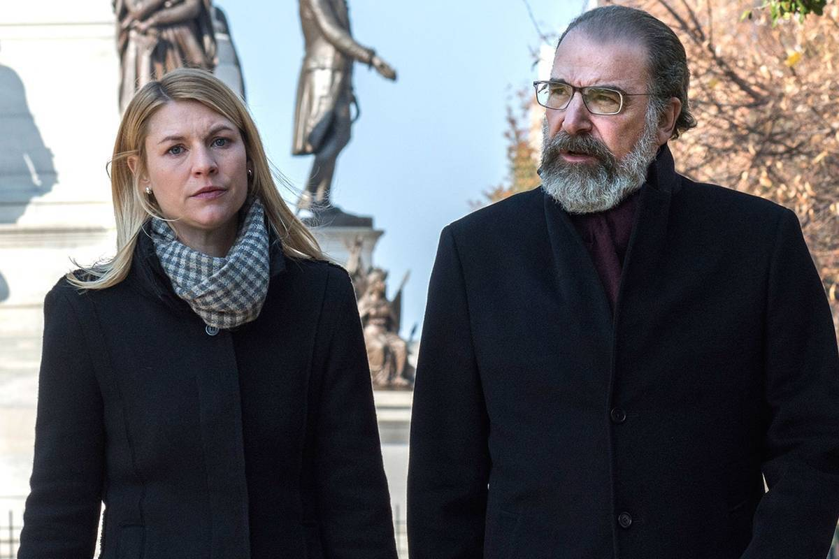 claire danes and mandy patinkin in a still from homeland