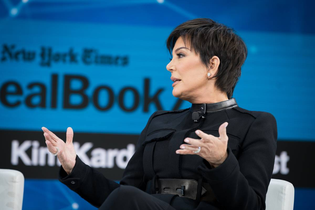 Jenner speaks onstage at 2019 New York Times Dealbook.