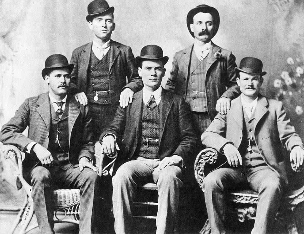Portrait of the American outlaw gang The Wild Bunch