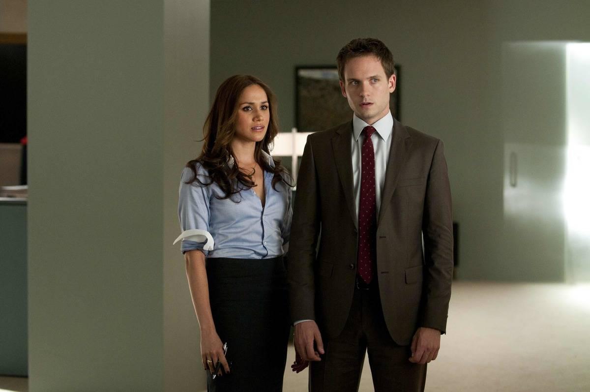 Patrick J. Adams And Megan Markle Leaving Suits