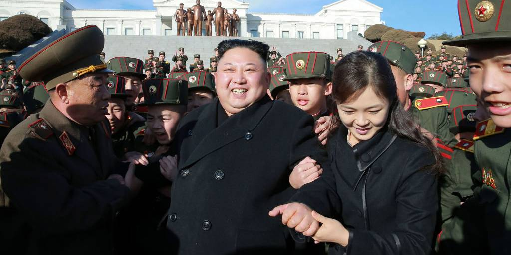 Kim and his wife