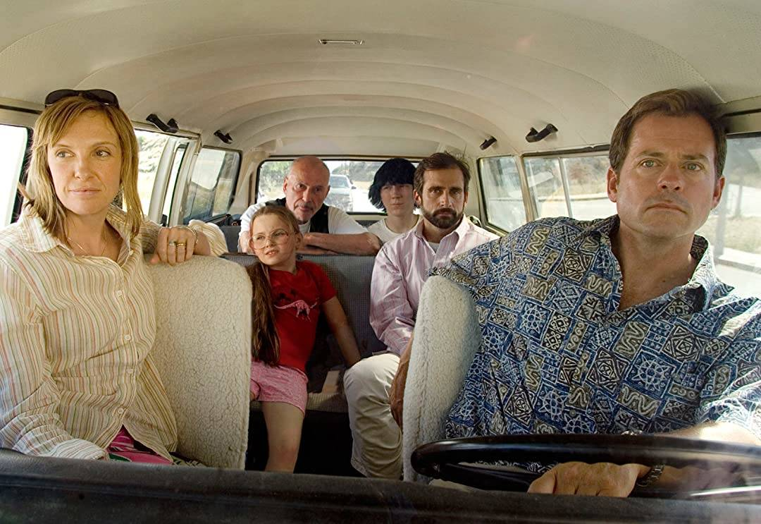 cast of little miss sunshine riding in a van