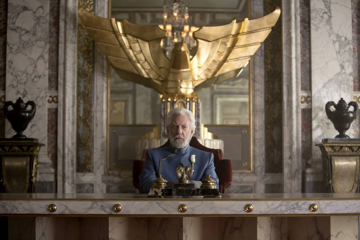 Donald Sutherland As President Snow In The Hunger Games