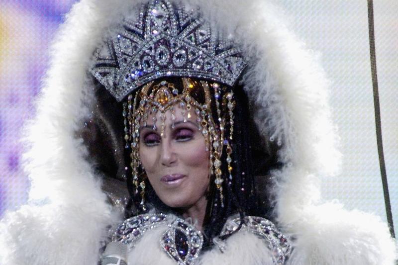 Cher's Heavy Bedazzled Headdress