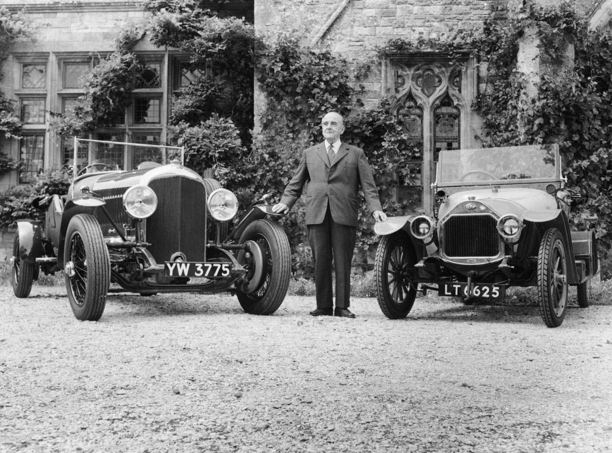 Bentley Standing With His Two Cars