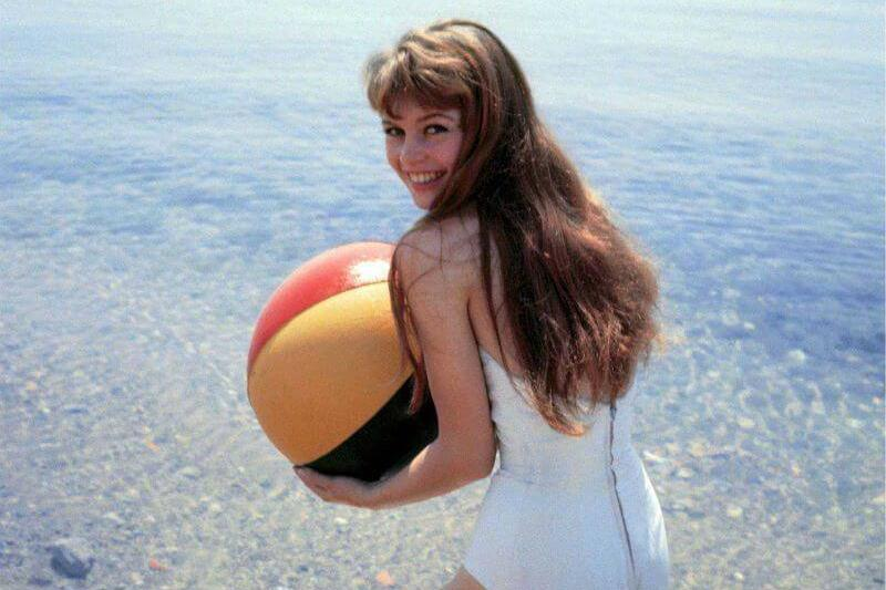 Brigitte Bardot Playing At The Beach