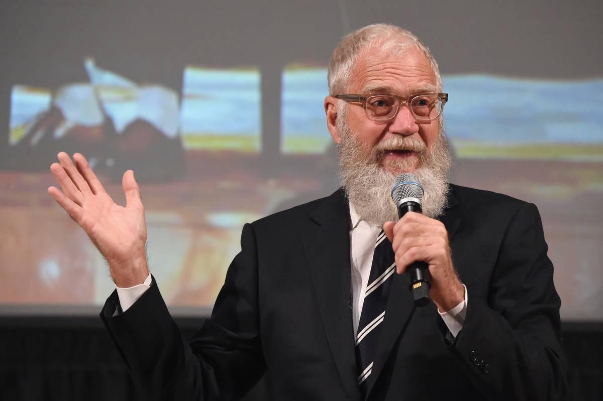 David Letterman speaks at The Streicker Center.