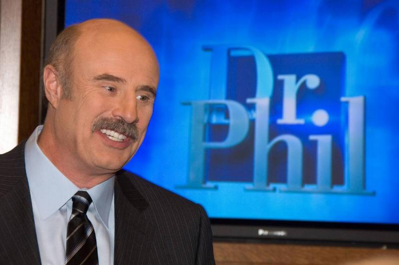 Phil McGraw is seen on the set of Dr. Phil.