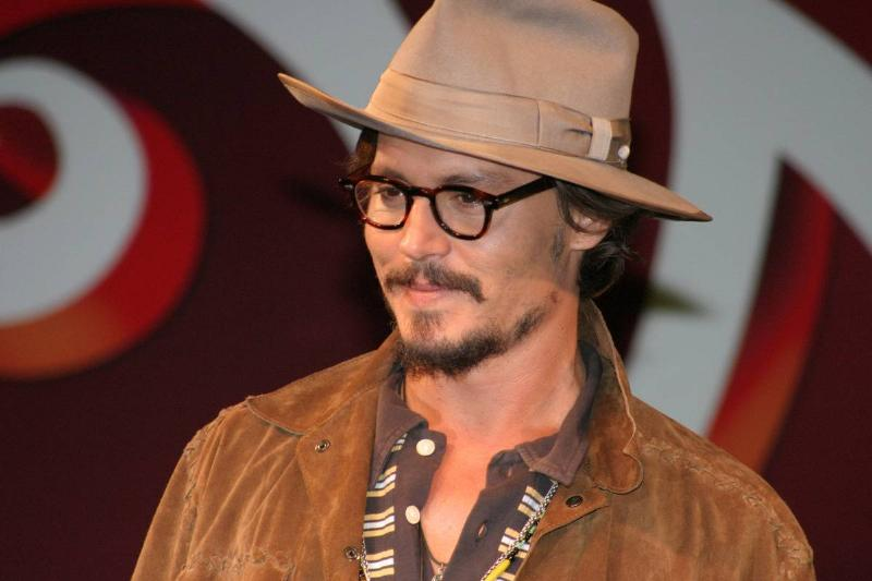 Johnny Depp attends a Charlie in the Chocolate Factory Press Conference.