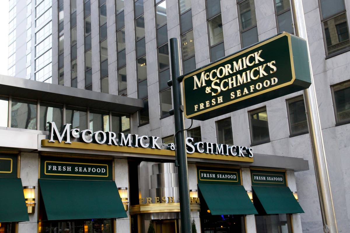 McCormick & Schmick's Dropped From 85 To 32 Locations