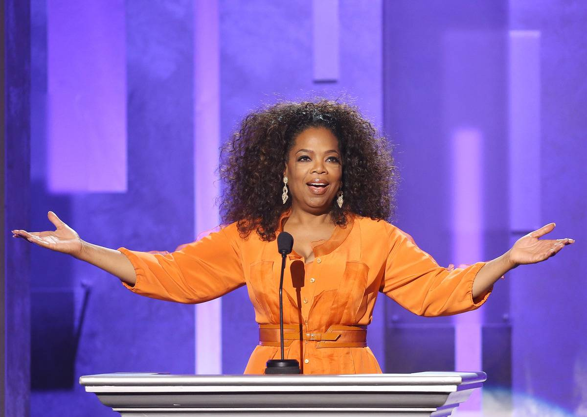 Oprah Winfrey speaks at the 45th NAACP Image Awards.