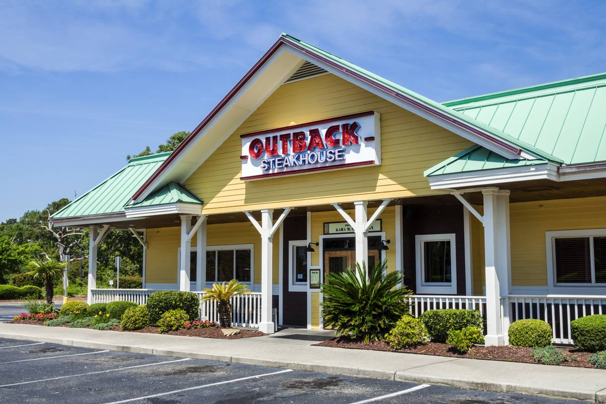 Outback Steakhouse Is Down 43 Locations