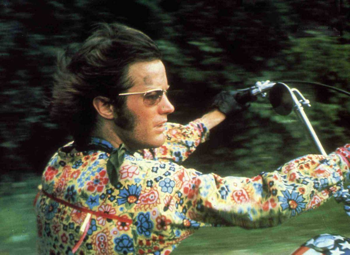Peter Fonda On The Set Of Easy Rider