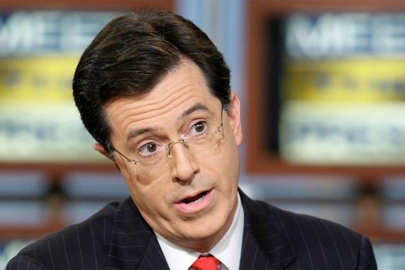 Stephen Colbert speaks on The Colbert Report.