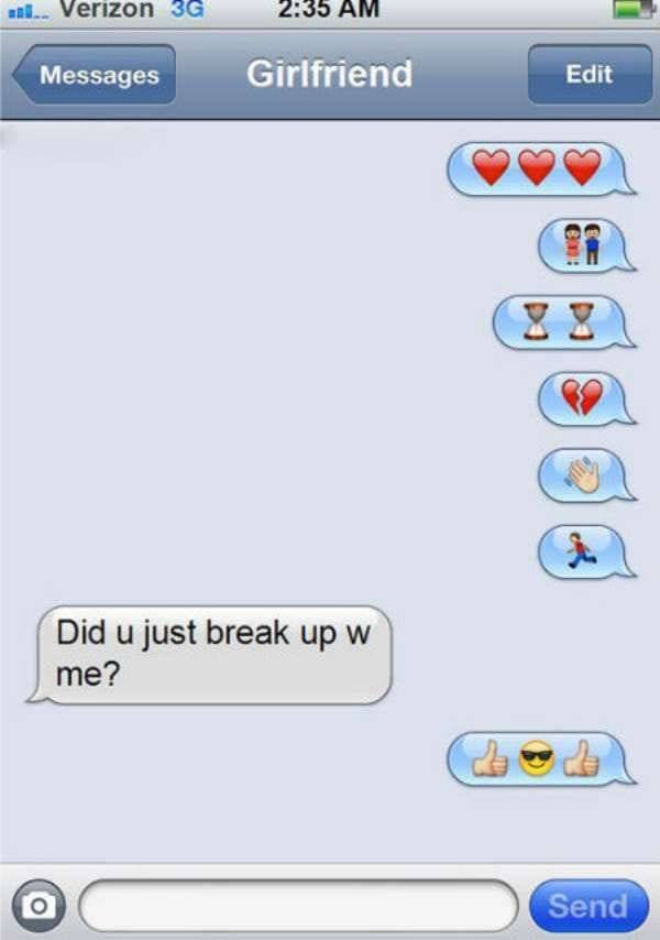 girlfriend emoji breakup