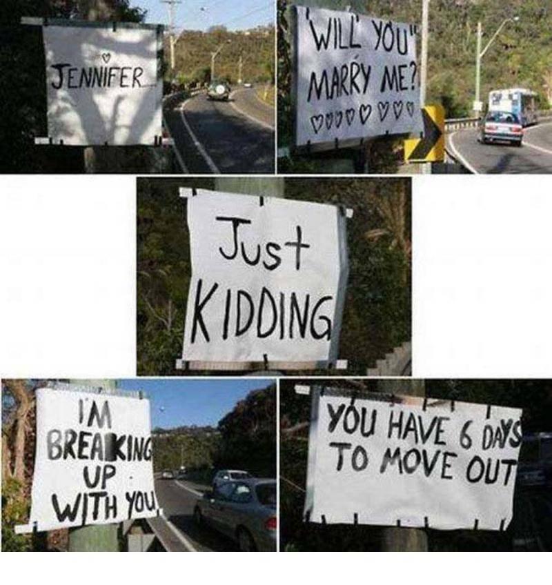 just kidding proposal
