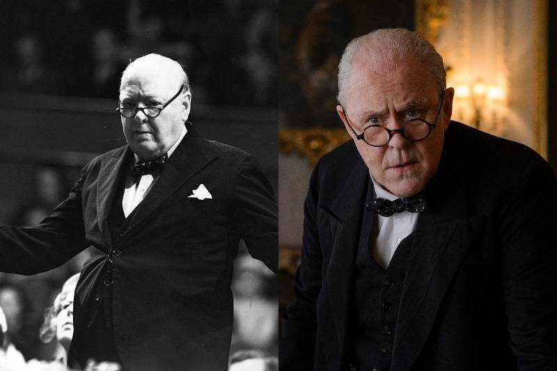 winston churchill both real and actor