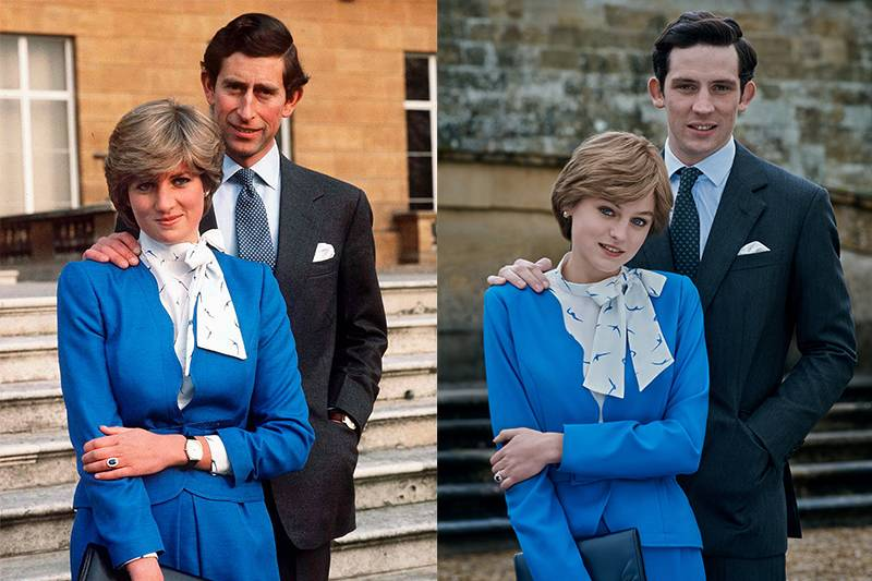 charles and diana in their engagement photos