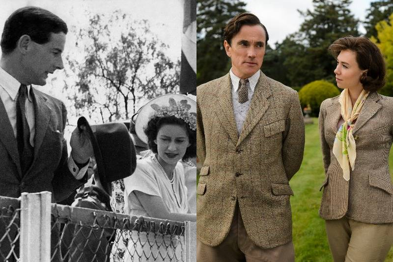 princess margaret and peter townsend in real life and on screen