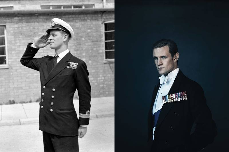 prince philip in real life and on screen