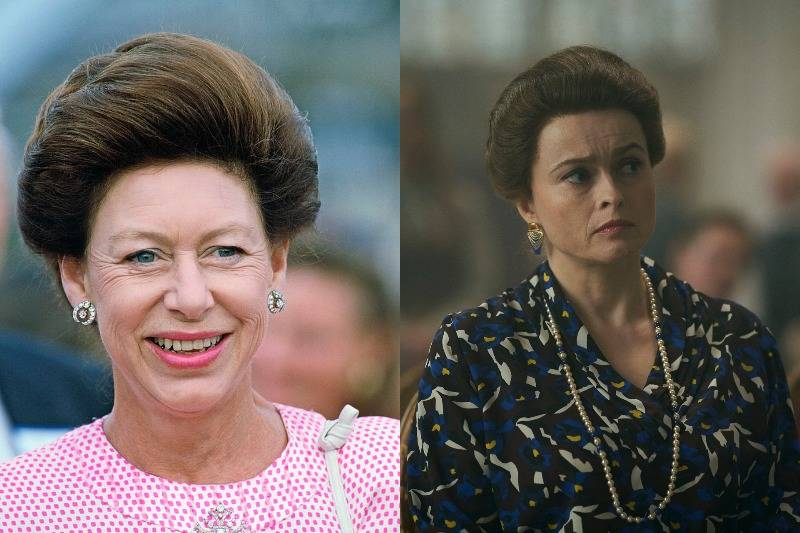princess margaret in real life and on screen