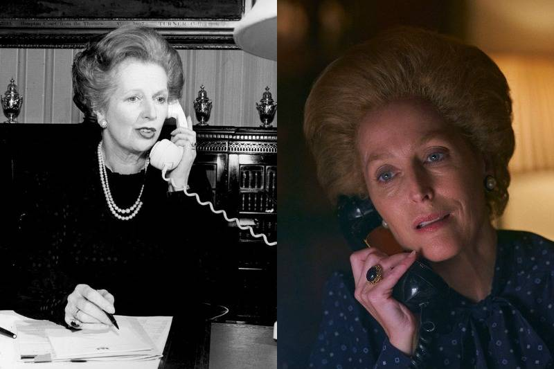 prime minister margaret thatcher talking on the phone