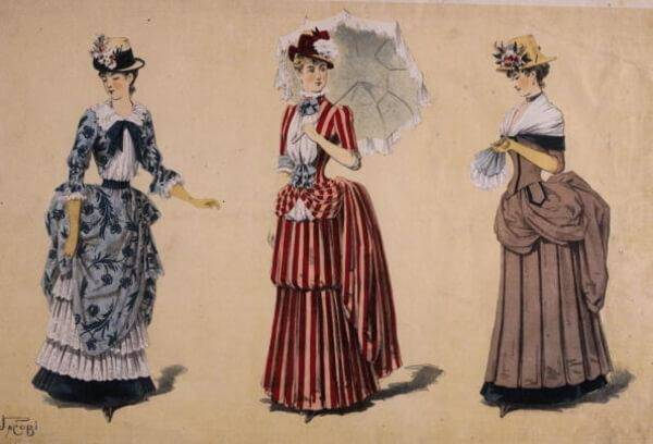 Bustles Were Meant To Emphasize Women's Back Ends