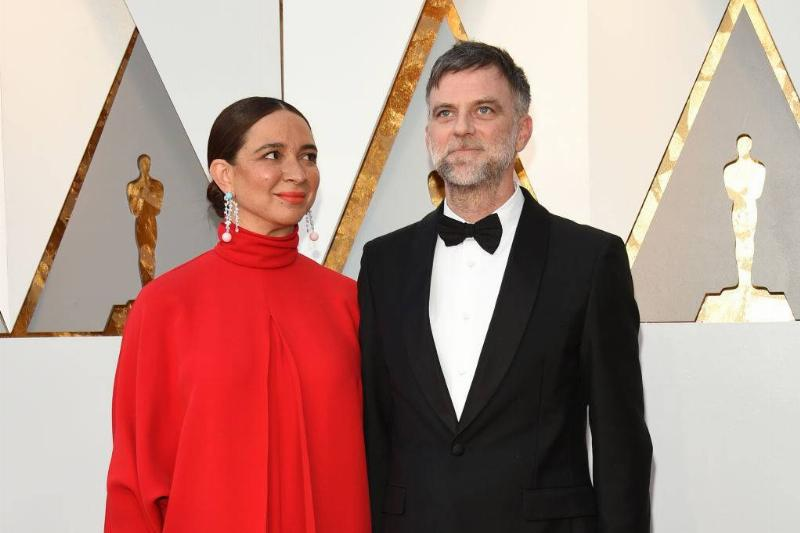 Maya Rudolph and Director Paul Thomas Anderson at the oscars in 2018