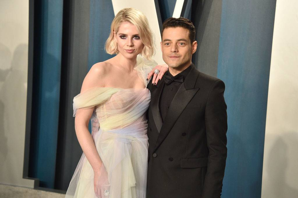 Lucy Boynton and Rami Malek attending an event in 2020