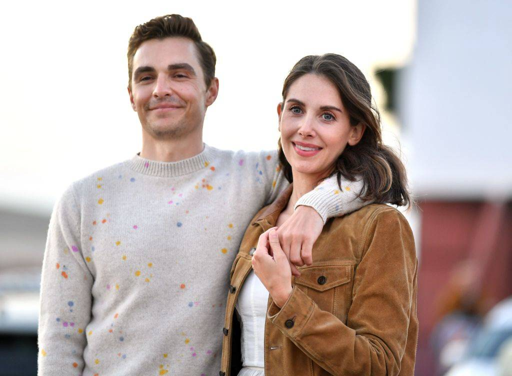 Dave Franco and Alison Brie posing for a photo in 2020