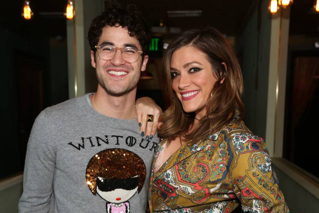 Darren Criss and Mia Swier posing for a photo in 2020