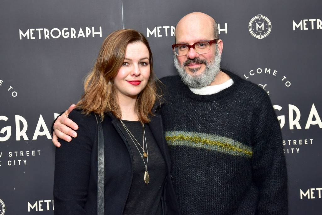 Amber Tamblyn and David Cross attending an event