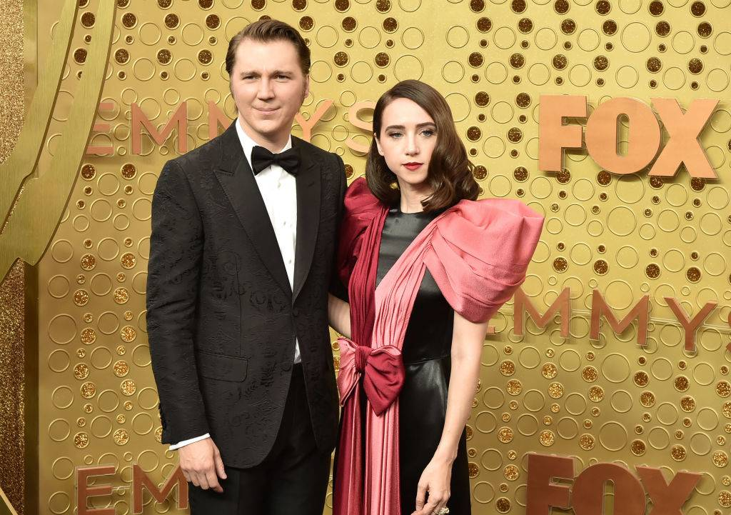 Paul Dano and Zoe Kazan attend the 71st Emmy Awards