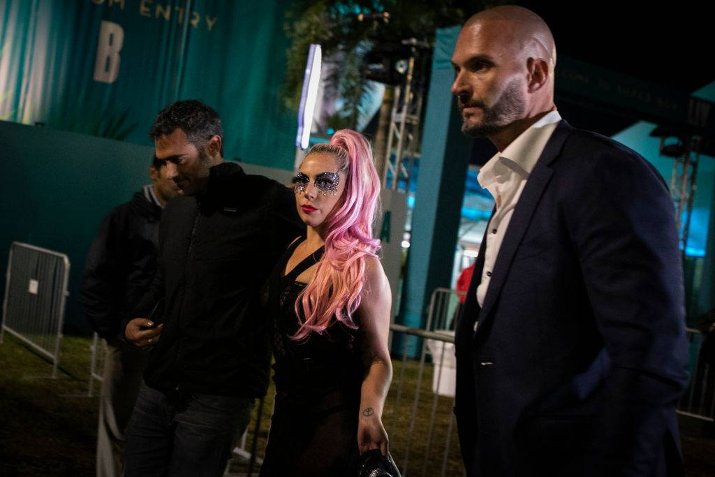 Lady Gaga leaves after Super Bowl LIV with Michael Polansky