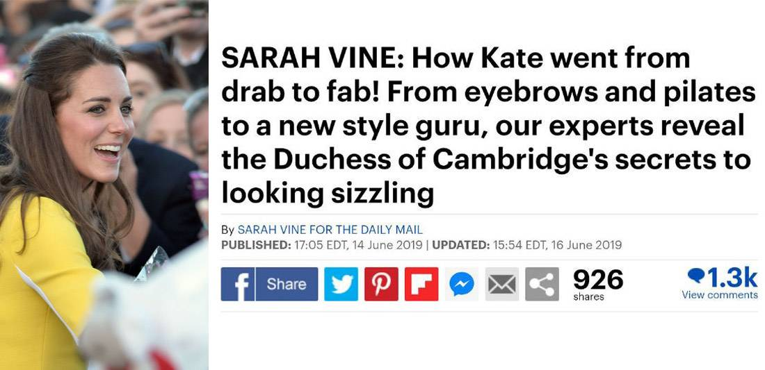 Kate-glam-up
