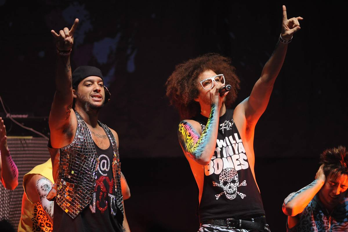 LMFAO performs at the UC Davis Pavilion in 2011.