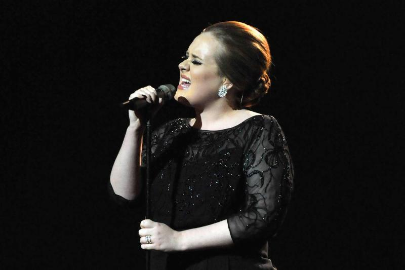 Adele performs at the 2011 The BRIT Awards.