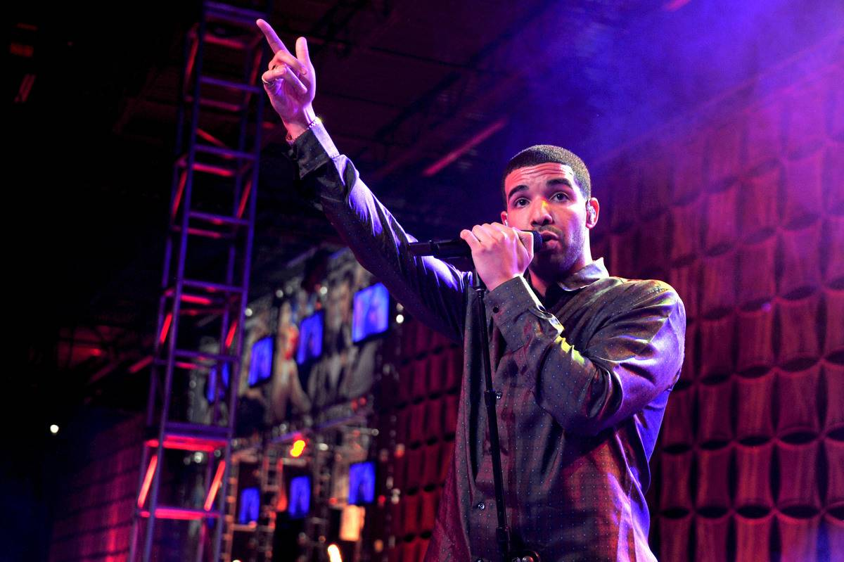 Drake performs in Indianapolis in 2012.