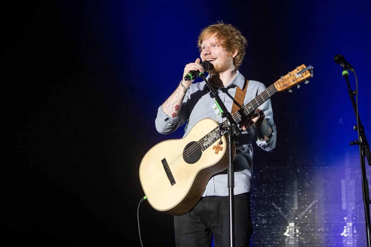 Ed Sheeran performs in Milan in 2014.
