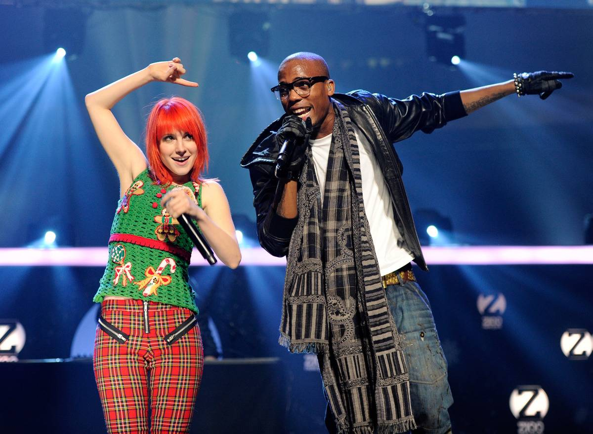 Hayley Williams and B.o.B. performs at Z100's 2012 Jingle Ball.