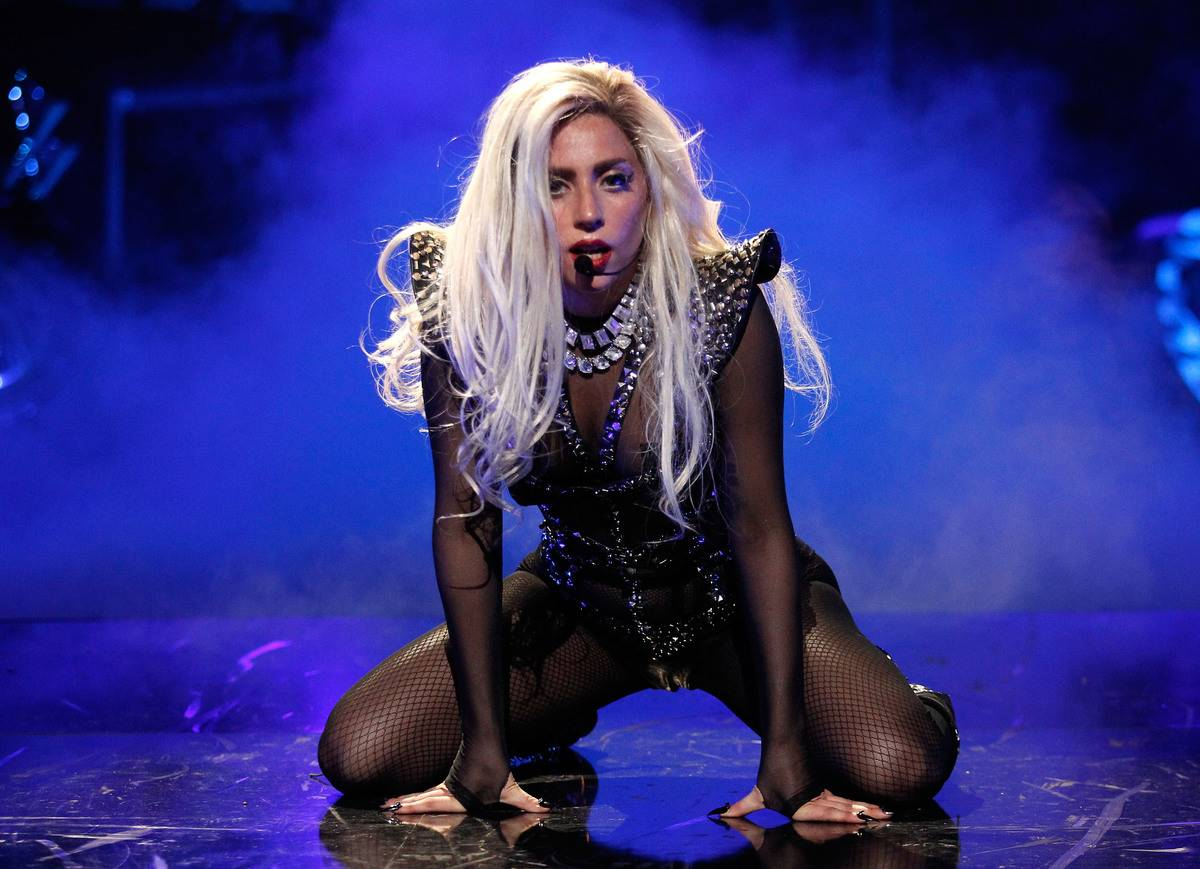 Lady Gaga performs at the 2011 iHeartRadio Music Festival.
