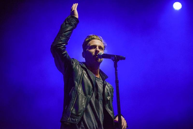 OneRepublic performs at The Greek Theatre in 2013.