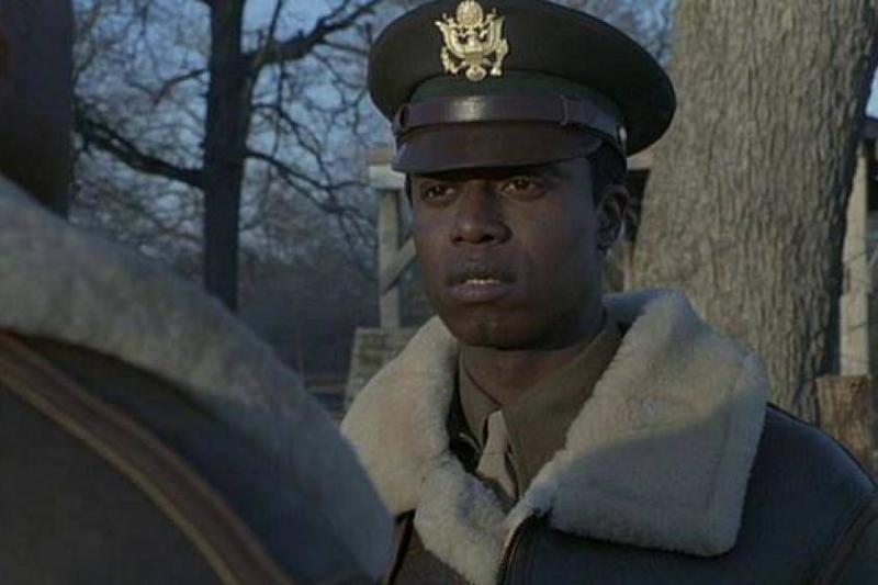Laurence Fishburne is seen in The Tuskegee Airmen (1995).