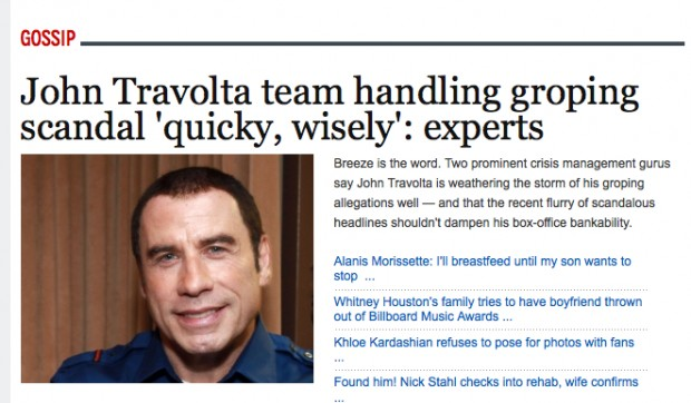 Travolta Has Had His Fair Share of Scandals