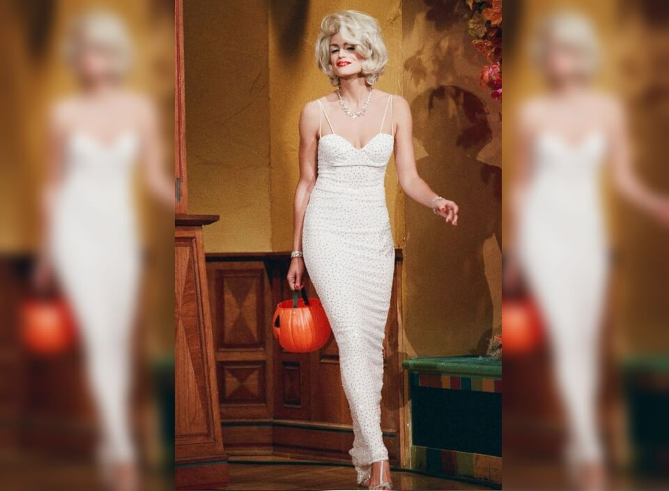 Cindy Goes Out as Marilyn Monroe