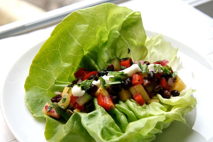 Swap Lettuce Leaves Instead of Tortilla Wraps