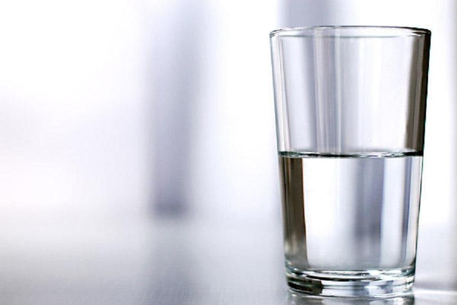 a half empty glass